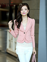 Women's Sexy/Casual/Cute/Work Medium Long Sleeve Short Blazer (Polyester)YE4310