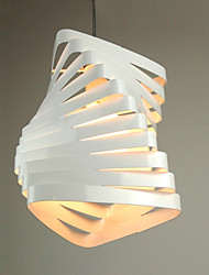 Pendant, 1 Light, Creative White Glass