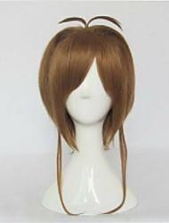 Cosplay  Dark Brown Long Straight Animated Synthetic Hair Wigs Cartoon Wig