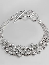 2015 New Design 925 Silver little beads links design Bracelet Bracelets for Women