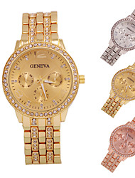 Elegant Ladies' Rose Gold Watch with Clear Crystal Diamonds