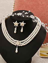 2015Europe and America pearl jewelry sets pearl necklace sets bridal jewelry pearl jewelry necklace setsBY-SET0012