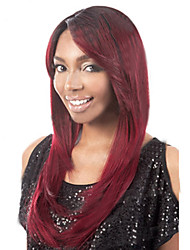 European And American Fashion Red Long Straight Hair Wig