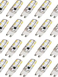 Lampadine alogene 16 SMD 5730 ding yao G9 9 W 300-400 LM Bianco caldo / Luce fredda 20 pezzi AC 220-240 V