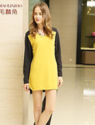 Women's Yellow Cashmere , Work Long Sleeve