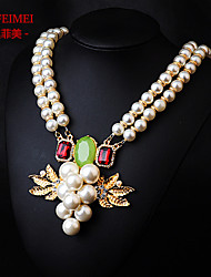 The new European and American fashion jewelry pearl diamond pendant long paragraph necklace accessory outlet