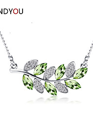 Women's Cubic Zirconia/Alloy/Rhinestone Necklace Anniversary/Birthday/Gift/Party/Daily/Causal/Office & Career/Outdoor