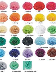 8 '' Seidenpapier poms Partei Handwerk Papier Blumen Bälle Set 5 (weitere Farben)