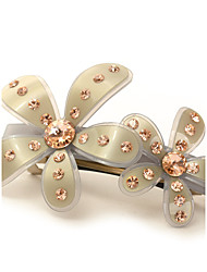 Fancy Wholesale Barrette for Women,High Quality Flower Hair Clip of Acetate and Austrian Rhinestone