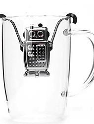 Robot suspendus inoxydable infuseur en acier avec bac de récupération