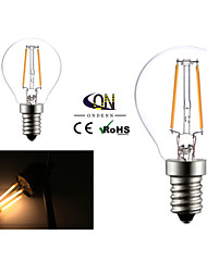 2W E14 LED Glühlampen G45 2 COB 200 lm Warmes Weiß AC 220-240 V 2 Stück
