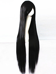 Cosplay Global Hot Models High-quality Synthetic Wig 100cm High Temperature Wire Straight Hair Black Long Straight Hair