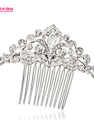 Neoglory Jewelry Clear Rhinestone Flower Hair Comb Tiara for Lady Bridal/Wedding/Daily/Pageant