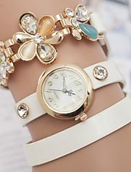 banda quartzo analógico pulseira ocasional relógio das mulheres z.xuan (cores sortidas)