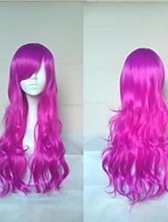 maravillosa peluca cosplay super largo pelo sintético ondulado pelucas pelucas del partido animados naturales 5 colores