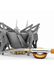 fogo-de bordo FMS-100t forno fogões metal titânio aquecedor a gás divisão de campismo liga de titânio