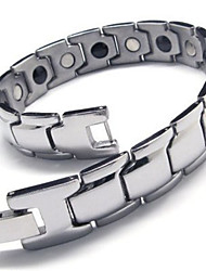 """Stainless Steel Silver Smooth Link Mens Bracelet 8.1"""" 10016051"""