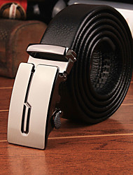 New Brand World Classic Fashion Design Men's Belt Luxury Automatic Buckle Leather Belt Men Leather Strap Cinto