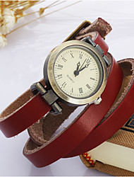 Women's Fashion Watch Wrist watch Bracelet Watch Quartz Leather Band Vintage Bohemian Blue Red Brown Brand