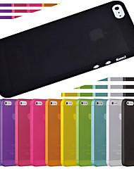 тренажерный зал ультра тонкий полупрозрачный чехол для iPhone 5/5 секунд (ассорти цветов)