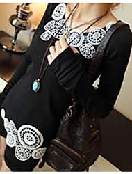 yisala женщин вскользь полоса футболка с длинным рукавом
