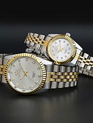 quelques acier bande analogique homme montre à quartz et la femme montres amoureux de la mode montres et horloges Suivre l'habillement des