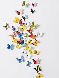 3d papillons autocollants Wall Art autocollants de PVC de paroi (38 pcs un ensemble)