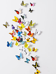 Calcomanías de arte pegatinas de pared de PVC de pared de la mariposa 3d (38 PC un sistema)