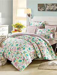 Floral Duvet Covers with Plaid Sheets Ikea Beddings