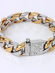 Herrn Ketten- & Glieder-Armbänder Armband Einzigartiges Design Modisch Simple Style vergoldet Schmuck Schmuck Für Weihnachts Geschenke