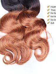 "3Pcs/Lot 10""-24"" Unprocessed Peruvian Virgin Hair 1b/30 Color Ombre Body Wave Human Hair Weave"
