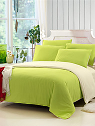 Yuxin® Green Color Cotton Duvet Cover Sets 4 Piece Suit Comfort Simple Modern for Twin Full and Queen Bed Size