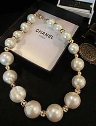 Masoo Women' Fashional Rhinestone Pearl Necklace