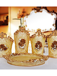 The Palace Rose Pattern Bathroom Ware 5 Sets