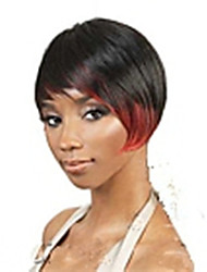 Fashion Mix-color(Red&Black) Synthetic Hair Wig Short Straight  Wigs Women's Sexy Wigs Party Wigs Full Wig