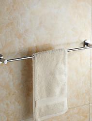 Contemporary Chrome Finish Brass Material Single Towel Bar