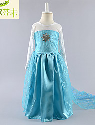 Girls Clothing 2015 Frozen Elsa Dress Frozen Costume Robe Vestidos