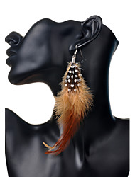 Earring Drop Earrings Jewelry Women Party / Daily / Casual Feather 2pcs