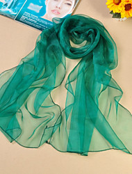 Women's Casual Organza/Polyester Solid Color Thin Scarves