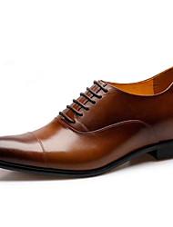 Шерсть теленка - MEN - Заостренный носок - Туфли на шнуровке