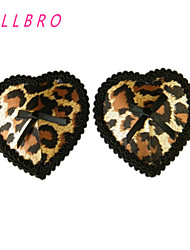Women's Bra Ladies Sexy Retro Leopard Heart Stick On Pasties Breast Nipple Covers Clubwear free shipping