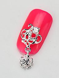 Fashion 10PCS RG113 Luxury Zircon 3D Alloy Nail art Decoration Diamond Nail Salon Supplier DIY Accessories