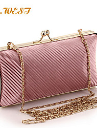 L.WEST® Women's Silks And Satins Fold Evening Bags