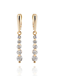 BIN BIN Women's 18K Gold Zircon Earings DJE0033
