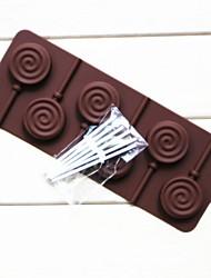 fashoin siliconen chocolade lolly snoep bruiloft decoratie keuken bakvormen koken fondant taart tools (willekeurige kleur)