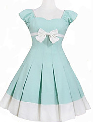 Sleeveless Short Blue Cotton Sweet Lolita Dress