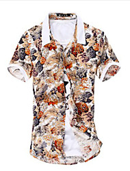 Men's Casual Floral Short Sleeve Shirts