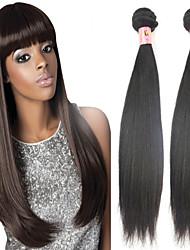 """3 pc / lotto 12 """"-26"""" cinese capelli lisci colore nero non trattati vergini capelli umani naturali di seta tesse"""