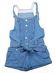 Girl's Summer Inelastic Opaque/Medium Overalls & Jumpsuits (Cotton)