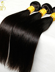 "4Pcs Lot 8""-30"" Virgin Malaysian Straight Hair Weave Bundles Natural Black 1B# 5A Remy Human Hair Extensions Tangle Free"